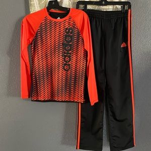 Size 10/12 Boys Adidas Outfit 2 Piece Top/ pants